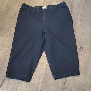 St John's Bay Womens Crop Jeans 16 W